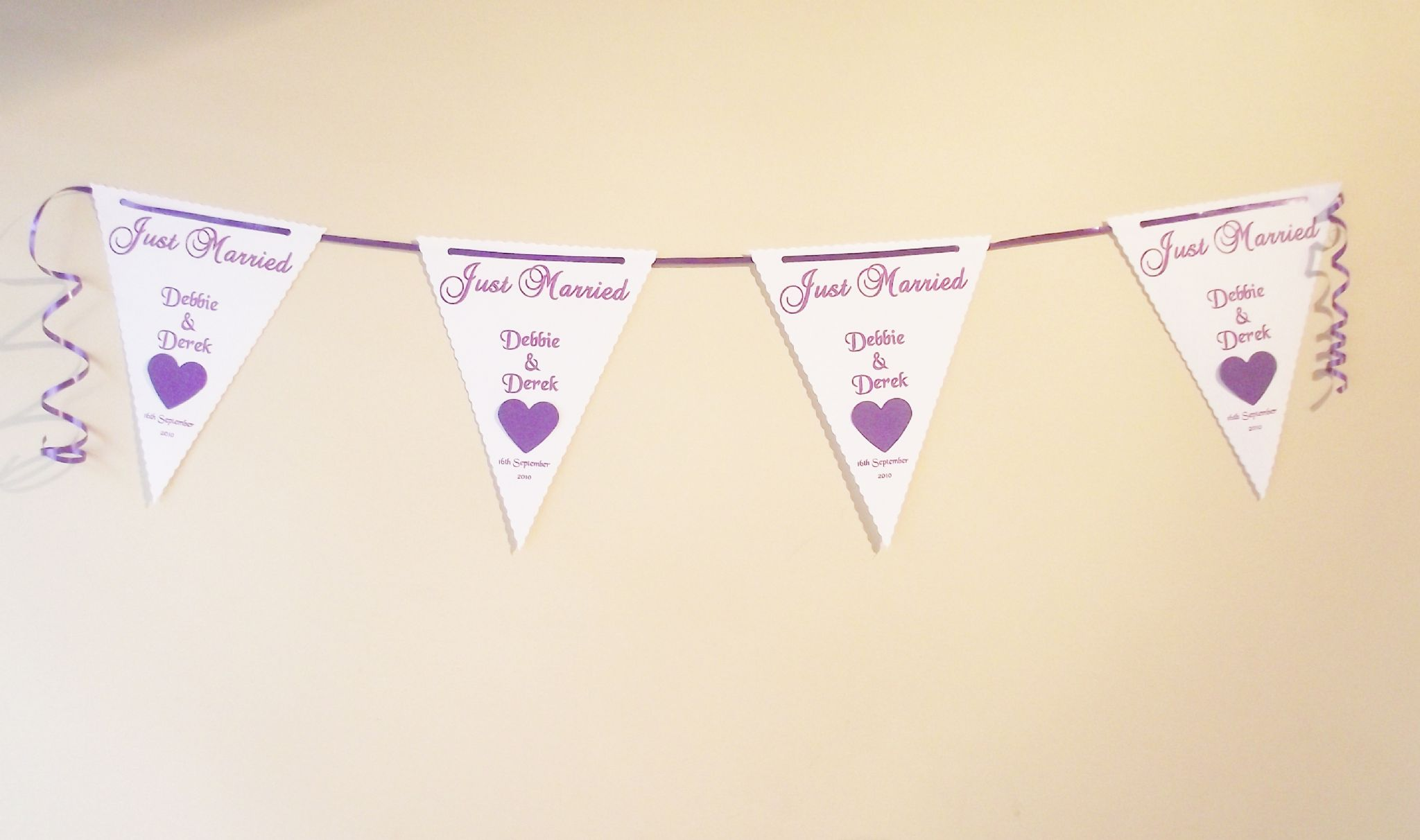 f966ba72a Wedding Bunting Banner Butterfly or Heart Design various colours 3m ...